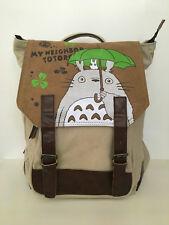 Ghibli Totoro Canvas Bag High Quality Rucksack Satchel Anime School Backpack