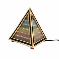 Home Decor Multi Gemstone Seven Chakra Wooden Table Desk Lamp Bulb Not Included