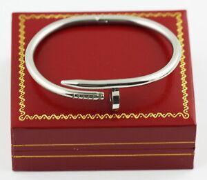 Bracelet bangle Stainless Steel Nail Screw Men Women rose yellow free gifts box