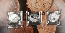 2012 Canada $20 Fine Silver Three 3 Coin Set Brilliant Uncirculated RCM