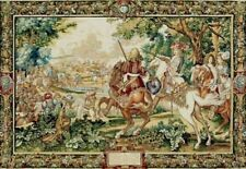 """Belgian """"Le Roi Soleil"""" Woven Wall Tapestry"""
