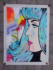 "Graffiti Art .... Peinture Originale sur Toile de Gomor "" Stay Wild "" ... Signée"