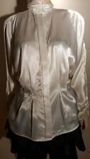 TESS VINTAGE LIQUID SATIN SHIRT TOP DRESS SUIT BLOUSE 8 M WET LOOK  private sale