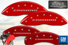 "2016-2020 Chevy ""Camaro"" LT 3.6/2.0 Front Rear Red MGP Brake Disc Caliper Covers"