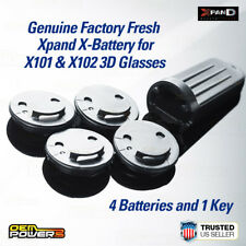 NEW Original Genuine Xpand X101 X102 X-Battery 3D Glasses 4-X-Battery 1-Tool Key