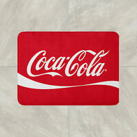 Coke Coca Cola Floor Carpet Mat Door Home House Natural Cotton Soft Drink neon