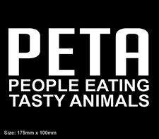 PETA MEME Sticker Decal Vinyl Hunting Meat Browning Guns Beef Pork Lamb BBQ YTB