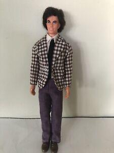 Vintage 1968 Mattel Mod Hair Ken Purple Pants, Shirt Tie, Brown Shoes- L1