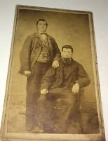 Antique American Civil War Era Victorian Fashion Vest Dapper Gents CDV Photo! US