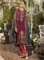 PAKISTANI INDIAN CHIFFON SALWAR KAMEEZ SUIT ANARKALI Bollywood MARIA B ASIMJOFA