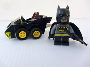 GENUINE LEGO MIGHTY MICROS BATMAN AND VEHICLE  MINIFIG - Good Cond
