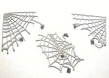 """SPIDER WEBS  FOR HALLOWEEN DETAIL 1/12"""" SCALE DOLL HOUSE MINIATURES"""