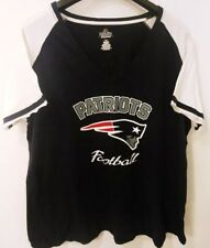 New England Patriots Majestic Fan Fashion Women's V-Neck T-Shirt New 4XL