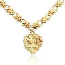 Fashion Women 18K Yellow GOLD PLATED Jewelry Heart Pendant Long Chain Necklace