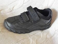 Clarks JACK SHINE Boys Black Leather School Shoes size 10.5 F