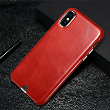 Genuine Cow Real Leather iCarer Case Vintage Cover Skin For iPhone X / XS - Red