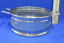 Vintage Silver Plate Casserole Serving Dish Holder Carrier w/ Handles