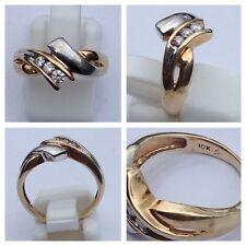 Schöner Ring 10 K 416er Gold Brillant 0,12 Ct Goldring bicolor 48 (15,3 mm Ø)
