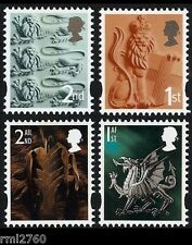 2012 ENGLAND + WALES 1st 2nd LITHO CARTOR REPRINT Single Stamps  Set of 4v