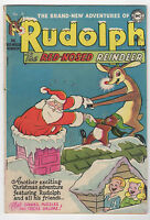 RUDOLPH THE RED-NOSED REINDEER  1952  DC  CHRISTMAS COMIC BOOK  SANTA CLAUS