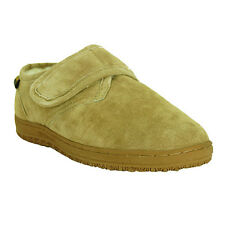 Old Friend Mens Sheepskin Adjustable Closure Slipper - MEDIUM THRU 5E EXTRA WIDE