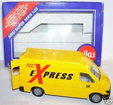 Siku mercedes sprinter post van post office ptt box 1/55