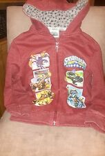 Duck dodge boy's hooded top aged 7yrs burgandy
