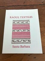 raoul textiles - small sample book