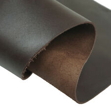 1.5mm Dark Brown Vegetable Tanned Leather Cow Hide Crazy Horse Toooling Crafts