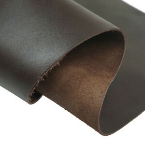 1.5mm Thickness Tooling Leather Craft Brown Leather Square Cowhide Piece