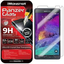 3x Samsung Galaxy Note 4 Panzerglas Schutzglas Schutzfolie Panzerfolie Glas 9H