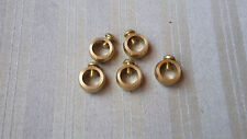 """Weathervane Brass Retainer Ring with Set Screw for 3/8"""" Rods - Lot of 5"""