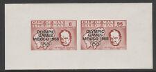 IOM Pantorrilla De Man 6023 - 1968 Juegos Olímpicos & Churchill M/Hoja de Menta desmontado
