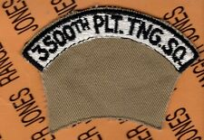 "USAF 3500th Platoon Traning Squadron 3.5"" tab patch"