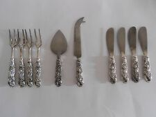 10 Pc. Set of Silverplate Hors d'oeuvre Forks, Knives, Cutting Knife & Server