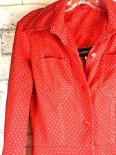 Vintage Jumpsuit Red White Polka Dots Polyester 60s 70s STRAIT LANE Bell Bottom