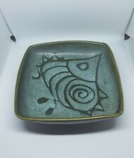 Lotus? Fosters ? 1970s square  four footed  fish dish