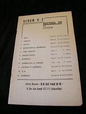 Partition Album N°1 recueil Ut pour Accordéon  Music Sheet