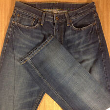 LEVI'S 514 Jeans SLIM STRAIGHT 32x30 Darker Blue Distressed *MINT LN*  J123117