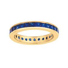 2.67CT Princess cut sapphire eternity band Set In 14K Yellow Gold IDJR5959YS