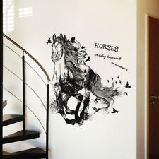 Removable Running Horse Wall Sticker Decal TV Background Home Decor Mystic