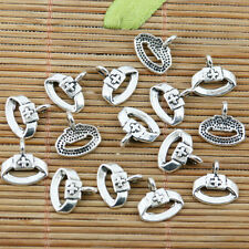 60pcs tibetan silver color nurse cap design charms EF2322