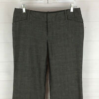 Mossimo womens size 6 x 31 stretch gray mid rise flat front dress career pants