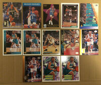 Muggsy Bogues LOT of 13 insert base cards NM+ 1990-1997 Charlotte Hornets NBA