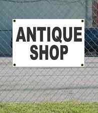 2x3 ANTIQUE SHOP Black & White Banner Sign NEW