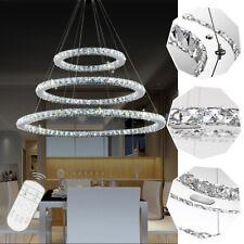 96W LED Kristall Dimmbar Deckenlampe Kronleuchter Hängeleuchte Pendelleuchte DIY