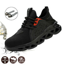 2020 Mens Light Safety Shoes Steel Toe Cap Work Ankle Hiking Mesh Boots Trainers