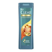 Clear Shampoo ANTI-DANDRUFF 400ml DETOX. Moisturizing Shampoo. Yellow Superfoods