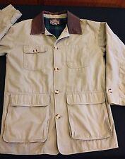 Barn Coat Work Jacket Sz S Plaid Flannel Lining Leather Collar Greatland Apparel
