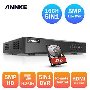 ANNKE 8+2/16+2CH 5MP Lite Full Channel 5IN1 DVR Digital Video Recorder Remote UK